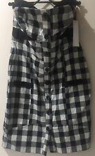 Cooper Street Size 12 Strapless Check Lightweight Button Dress
