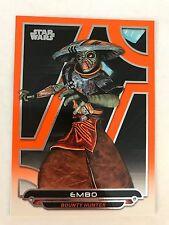 2017 Star Wars Galactic Files Reborn #ACW-16 Embo ORANGE NrMint-Mint