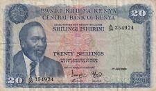 Kenya - 20 Shillings 1969 (B569)