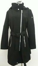 Calvin Klein Zipper Hooded Soft Shell Trench Coat Black M