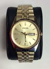 PULSAR Traditional Collection Gold Tone Stainless Steel Quartz WATCH PXF306