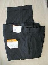 "NWT $75 SAVANE ""SHARKSKIN"" PLEATED DRESS PANTS NO IRON BLACK 36X30"
