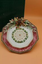 Fitz & Floyd Equestrian Collection Small Tray Plate Nib Leaves Acorns