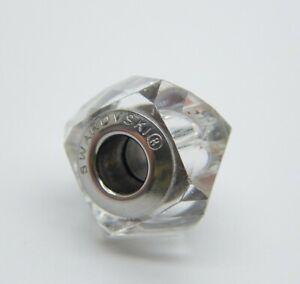Swarovski White Crystal BeCharmed Fortune Bracelet Charm 14mm With 4mm Hole