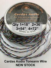 "CARDAS MULTI STRAND 18"" LITZ TONEARM WIRE 4X33 AWG GOLDEN RATIO SUPER LITE CABLE"