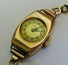 Vintage Ladies Unicorn Watch, Rolex Sub Brand Gold Filled, Running Needs Service