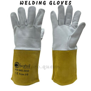 Long Sheepskin Gloves Welding Gloves Protection Gloves, Cut And Stab-resistant