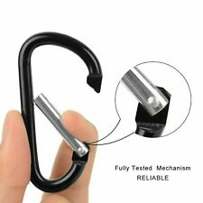 1 Pack Aluminum Snap Hook Carabiner D Ring Key Chain Clip Keychain US Seller