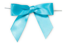 50 x MINI SATIN RIBBON BOWS + Twist Ties for Sweet Treat Gift Bag Wedding Favour