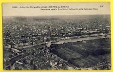 cpa 1913 ? RARE Panorama de PARIS à Bord du DIRIGEABLE Militaire DUPUY de LÔME