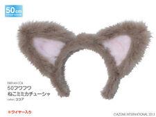 Azone 50cm Fluffy Nekomimi Cat Ear Head Band Cocoa Yamato VMF50 Obitsu 1/4 BJD