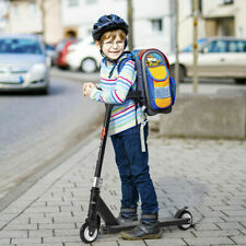 Aluminum Portable Kick Scooter for Kids Children w/Pu Wheels Outdoor Black