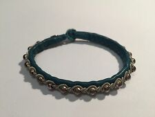 New - Pulsera SAAMI CRAFTS Piel & Plata - TURQUOISE Leather & Silver Bracelet