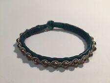 New - Pulsera SAAMI CRAFTS Piel & Plata - TURQUOISE Leather & Silver Bracelet