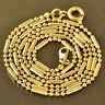 elegant 9K Yellow Gold Filled Womens Beaded Chain  20'' long Necklace jewelry