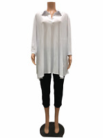 Women with Control Regular Crepe Jersey Knit Tunic and Crop Pants Large Size