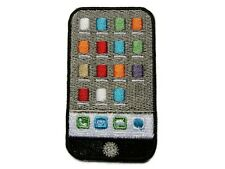 Cell Phone w App Icons Embroidered Iron On Patch Applique 2.5 Inches