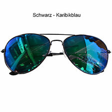 Pilotenbrille Sonnenbrille Verspiegelt Fliegerbrille Aviator Pornobrille Brille
