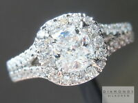 .62ct D SI1 Cushion Cut GIA Split Shank Halo Ring R5091 Diamonds by Lauren