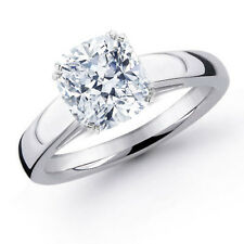 0.90 Cushion Diamond Engagement Ring SI1 Not Enhanced Size Selectable EGL