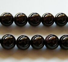 40pcs 9mm Round Natural Gemstone Beads - Garnet