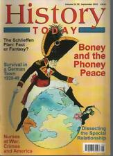 HISTORY TODAY MAGAZINE - Volume 52 (9) Sept 2002 'Boney and the Phoney Peace'