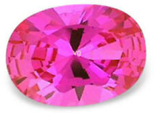 8x6 mm 1.6 cts oval cut  pink lab created  Sapphire
