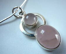 Rose Quartz Dbl-Gem 925 Sterling Silver Necklace India