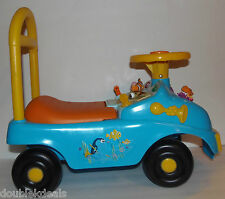 DISNEY FINDING NEMO RARE RIDE ON CAR/ TOY MUSICAL FEATURES + BACK REST + STORAGE