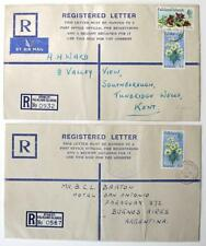 Falkland Islands x 2 Formula Registered Envelopes, 1972, 1973. Used 1974, 1977