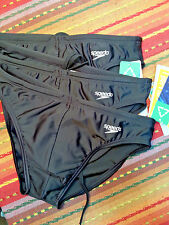 Speedo Men's Black Swimsuit Bikini  - Front black liner - Size US30 NEW / NWT