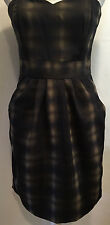 H&M Sexy Casual Strapless Two Pocket Pleated Dress Size 8