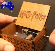 Harry Potter Music Box Engraved Wooden Retro Music Box Xmas Gifts Toys AU Stock