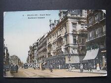 AK Bruxelles Grand Bazar Boulevard Anspach, gelaufen1909(P 131)