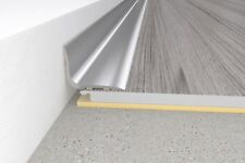 Self-adhesive Brushed aluminium skirting board -0.93m  - 20x15mm - angle