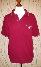 T-Shirt Hommes Taille S porté LACOSTE Hommes Femmes Bordeaux Bordeaux Polo