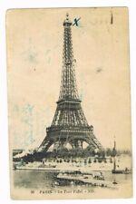 CPA n&b Tour Eiffel - 1924