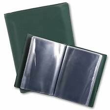 A5 NYREX (NIREX) HARDCOVER ORDERS FOLDER IN GREEN 20 CLEAR POCKETS - MILITARY