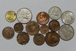 ETHIOPIA + KHARTOUM & SOMALIA OLD COINS B38 II29