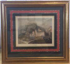 "J T Willmore Engraving Print of  ""Amalfi"" Italy by W. Brockedon 10.75"" X 8.25"""