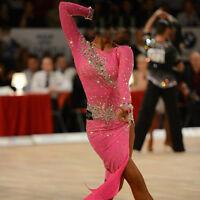 K3959 Competition ballroom lady chacha latin samba rumba salsa dance dress UK 10