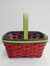 Longaberger 2011 Strawberry Spring Basket Set - Red Green New Retired