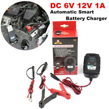 DC6V 12V Automatic Smart Battery Charger Maintainer for Car Motorcycle EFB AGM