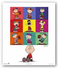 BASEBALL ART PRINT Peanuts Charlie Brown Baseball Charles Schulz
