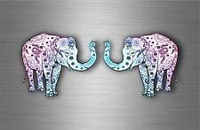2x sticker car decal bumper biker motorcycle elephant full colour nursery room