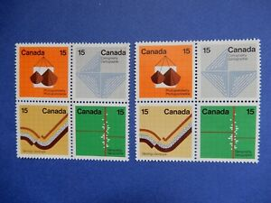 #582p-585p, 582-585 MNH  two matching blocks but (tagged & untagged):  Earth Sci