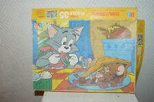PUZZLE MB TOM ET JERRY 35  PIECES COMPLET EPOQUE BEEP BEEP VINTAGE 1979