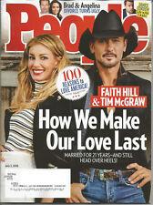 People Magazine (July 2, 2018) FAITH HILL & TIM MCGRAW~~~~~~~~~BRAD & ANGELINA