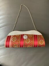 Clutch box Indian wedding sling chain hand bag floral fabric