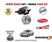FOR JAGUAR S TYPE 2.7TD V6 2006-2008 FRONT BRAKE DISCS SET AND DISC PADS KIT